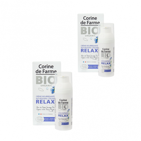 Lot de 2 Crèmes Nourrissantes Relax 50ml - Certifiées Bio
